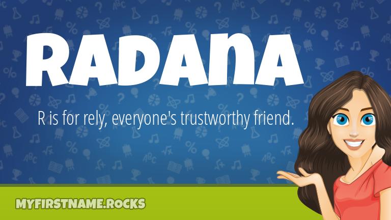 My First Name Radana Rocks!