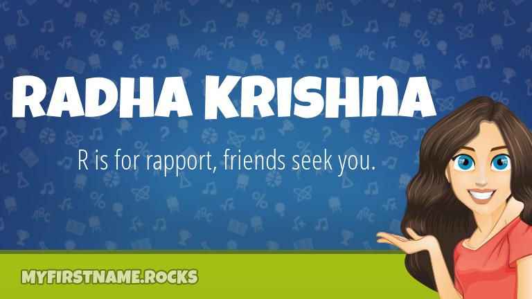 My First Name Radha Krishna Rocks!