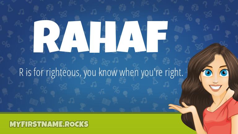 My First Name Rahaf Rocks!