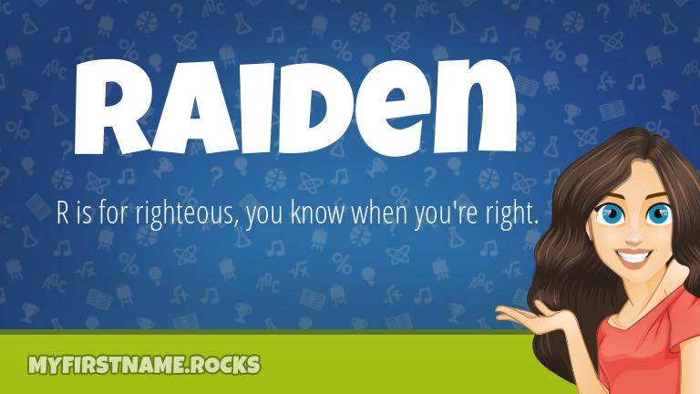 My First Name Raiden Rocks!