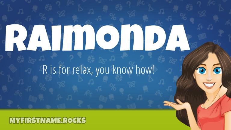 My First Name Raimonda Rocks!