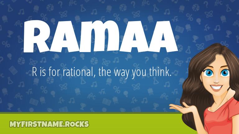 My First Name Ramaa Rocks!