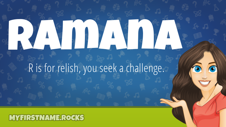 My First Name Ramana Rocks!