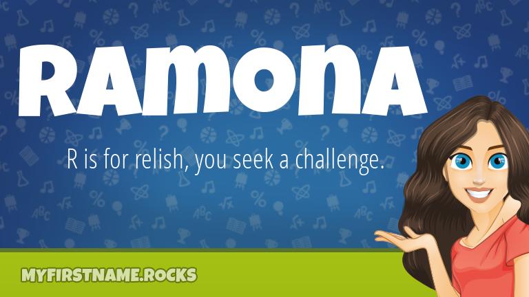 My First Name Ramona Rocks!