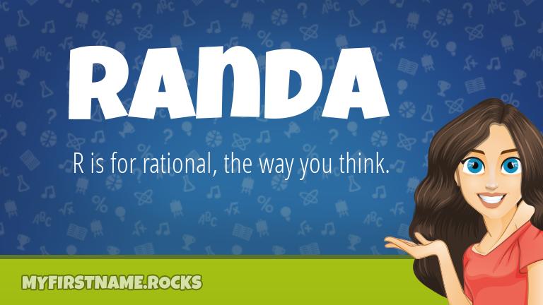 My First Name Randa Rocks!