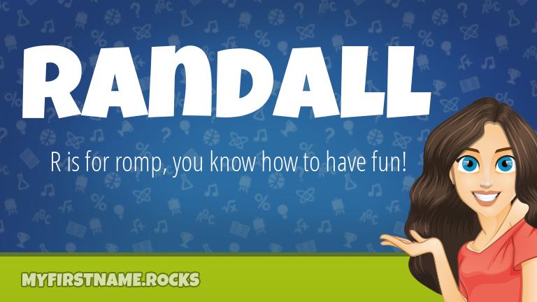 My First Name Randall Rocks!