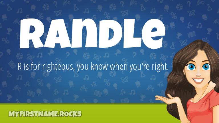 My First Name Randle Rocks!