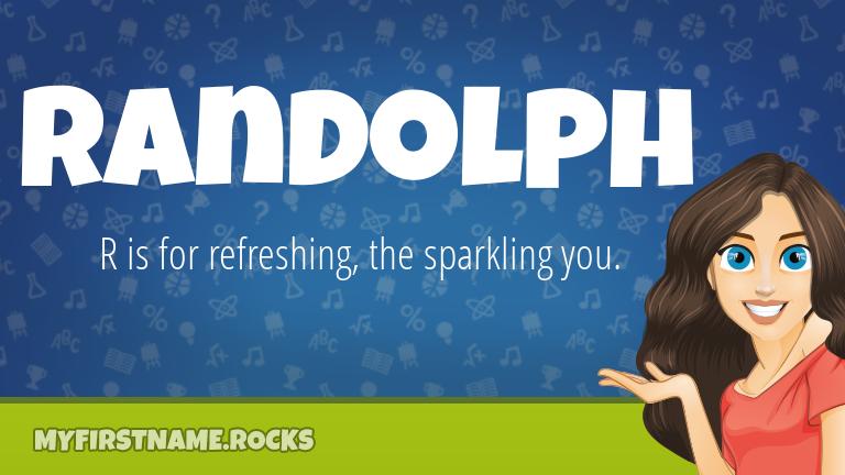 My First Name Randolph Rocks!