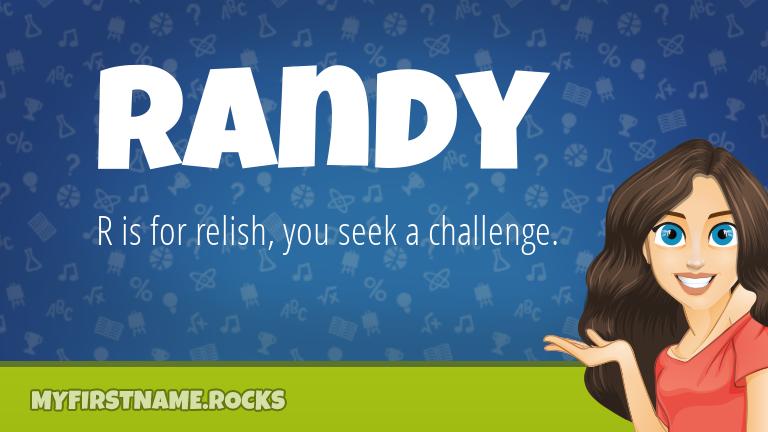 My First Name Randy Rocks!