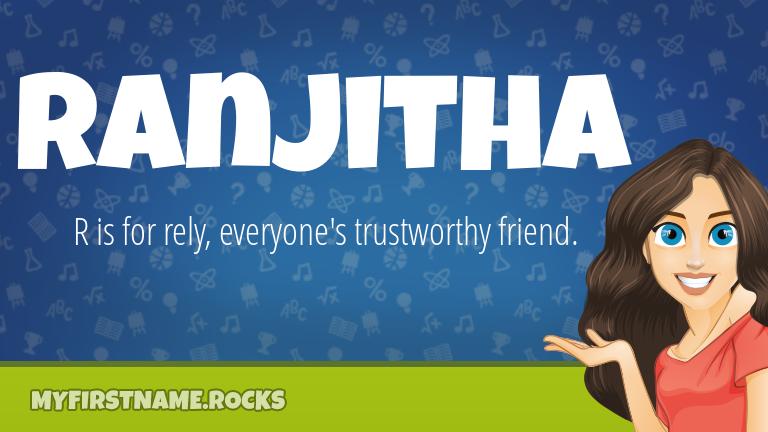 My First Name Ranjitha Rocks!
