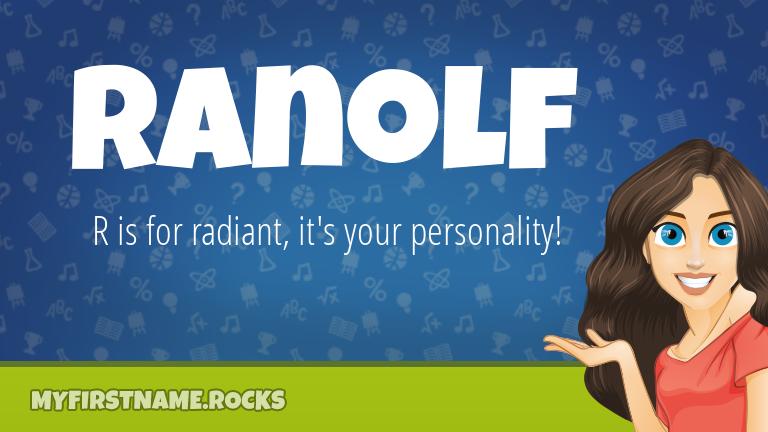 My First Name Ranolf Rocks!