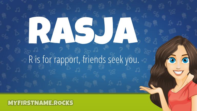 My First Name Rasja Rocks!