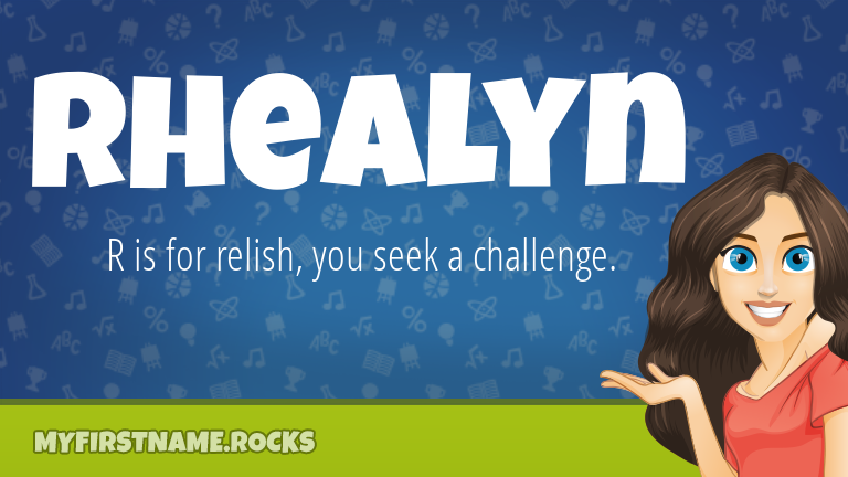 My First Name Rhealyn Rocks!