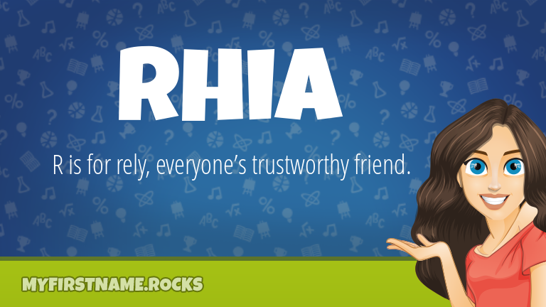 My First Name Rhia Rocks!