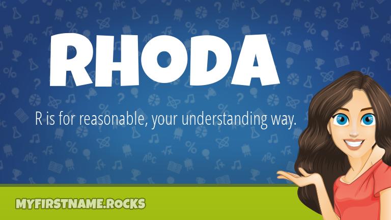 My First Name Rhoda Rocks!