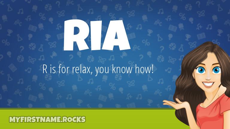 My First Name Ria Rocks!