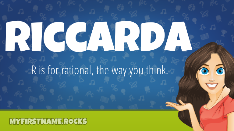 My First Name Riccarda Rocks!