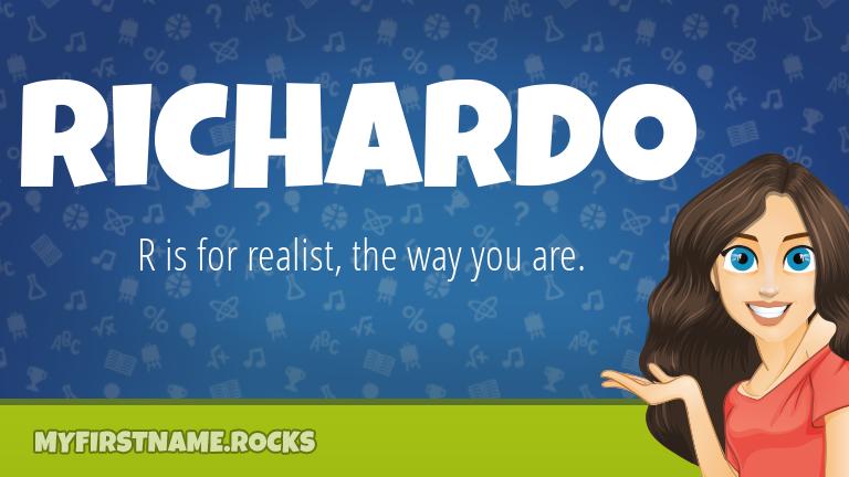 My First Name Richardo Rocks!