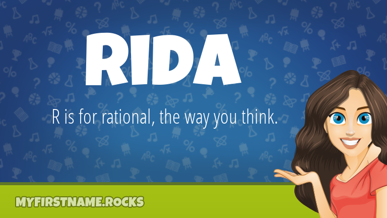 My First Name Rida Rocks!