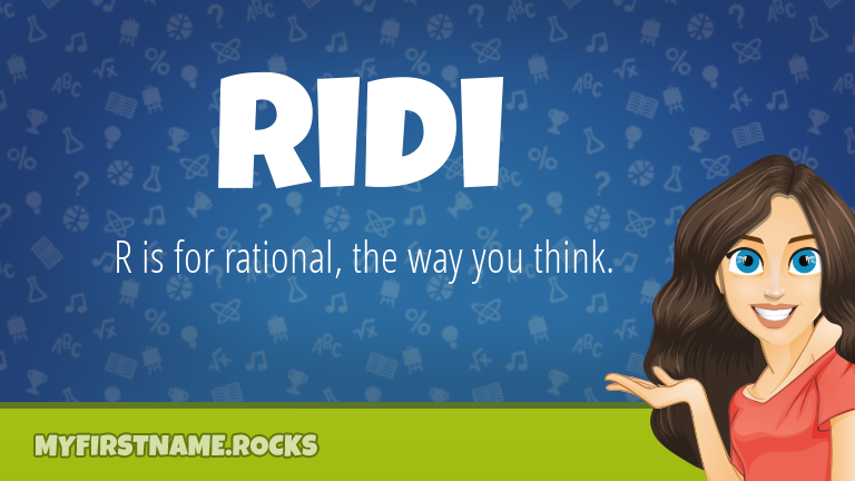 My First Name Ridi Rocks!
