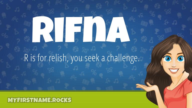 My First Name Rifna Rocks!