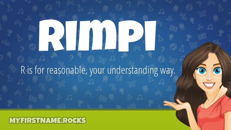 My First Name Rimpi Rocks!