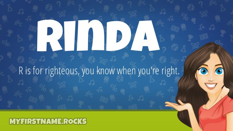 My First Name Rinda Rocks!