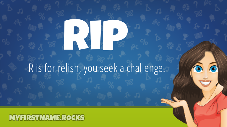 My First Name Rip Rocks!