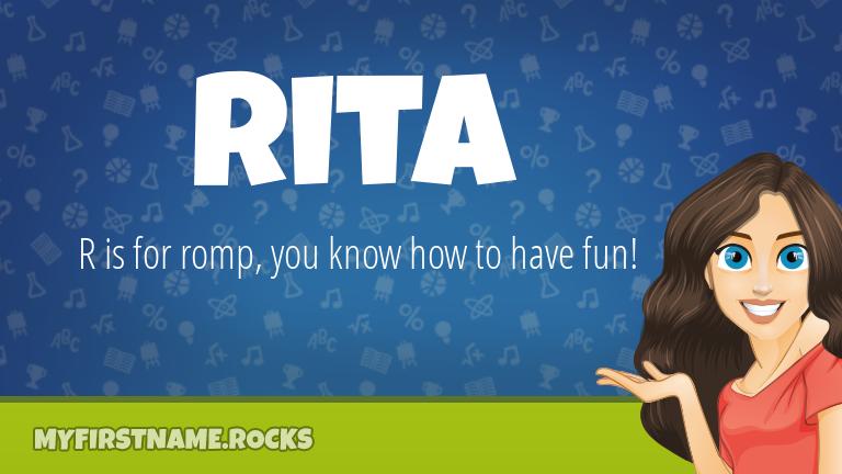 My First Name Rita Rocks!