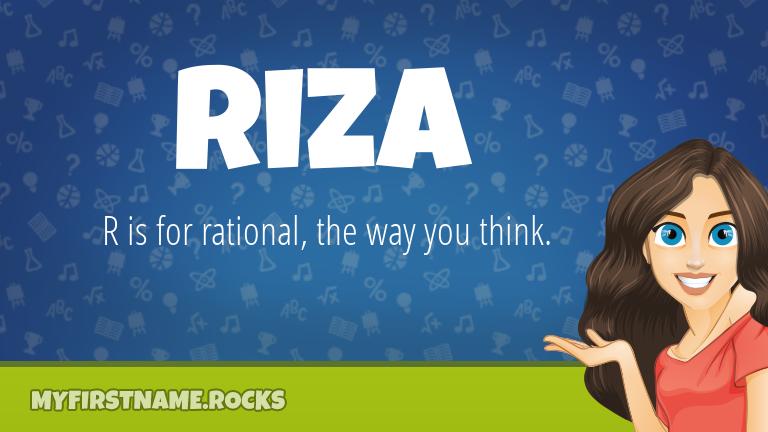 My First Name Riza Rocks!