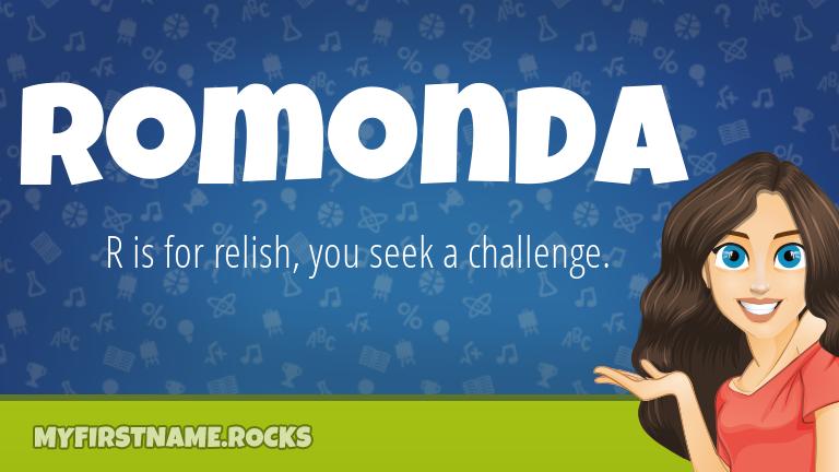 My First Name Romonda Rocks!