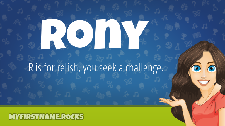 My First Name Rony Rocks!