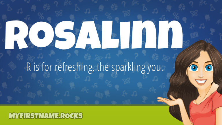 My First Name Rosalinn Rocks!