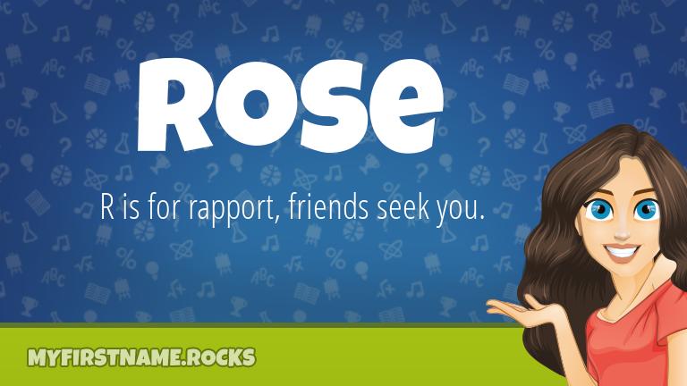 My First Name Rose Rocks!