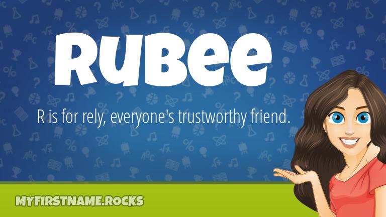 My First Name Rubee Rocks!
