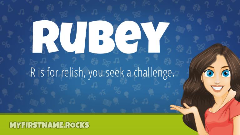 My First Name Rubey Rocks!