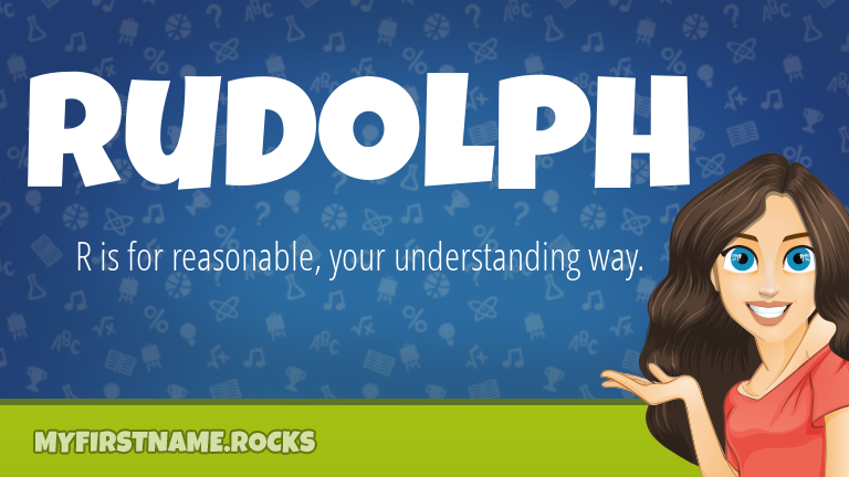 My First Name Rudolph Rocks!