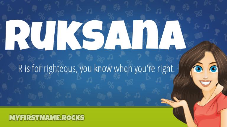 My First Name Ruksana Rocks!