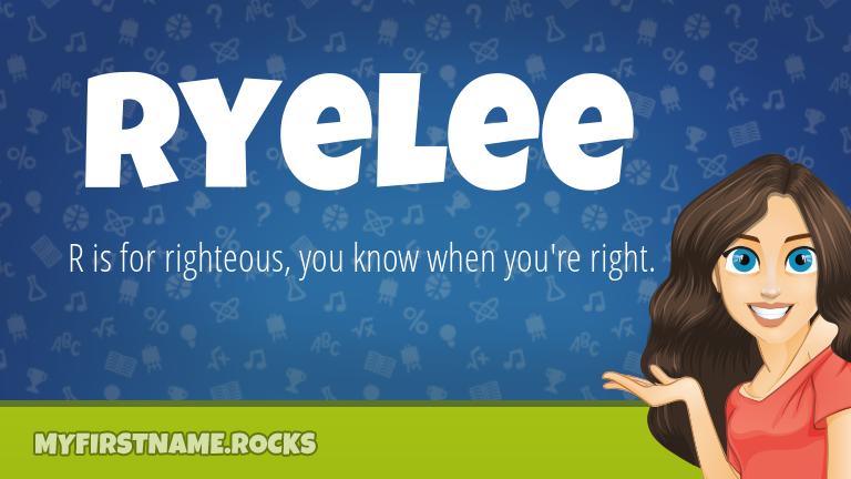 My First Name Ryelee Rocks!