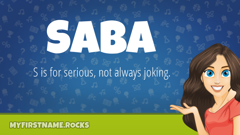 My First Name Saba Rocks!