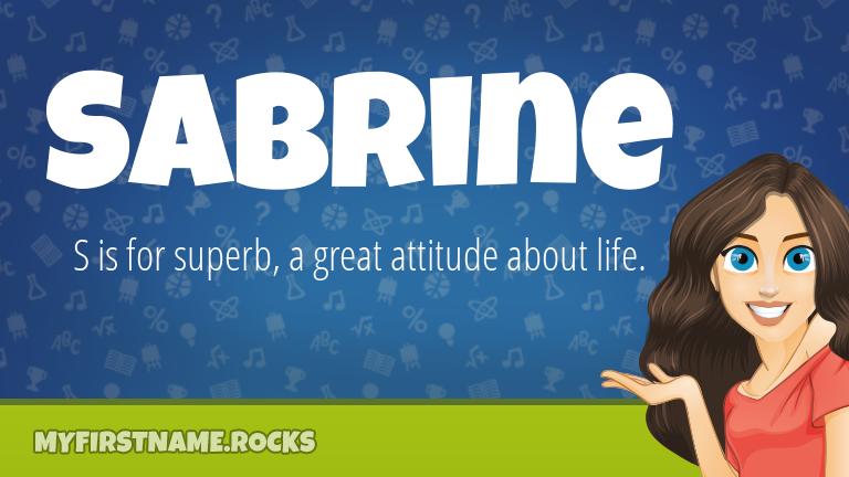 My First Name Sabrine Rocks!