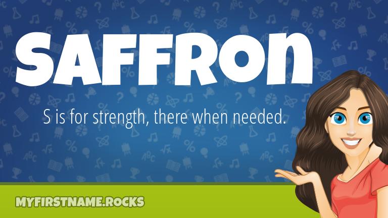My First Name Saffron Rocks!