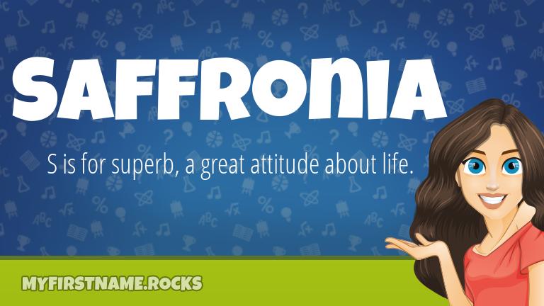 My First Name Saffronia Rocks!