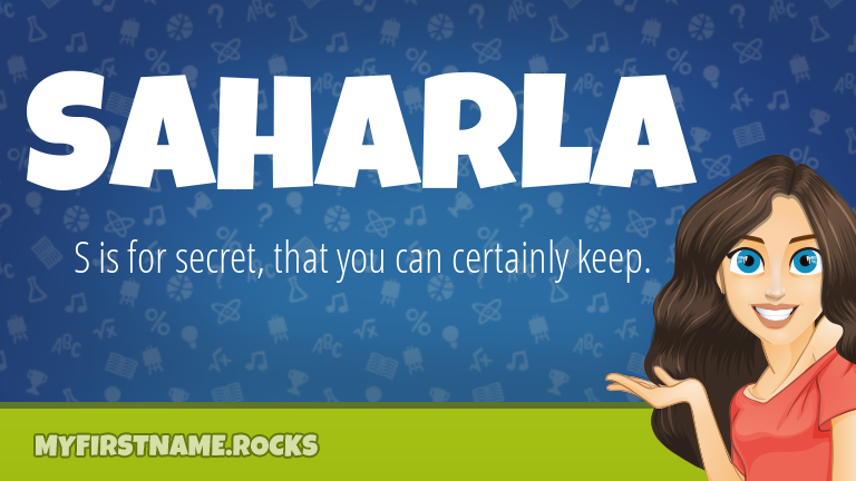 My First Name Saharla Rocks!