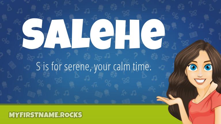 My First Name Salehe Rocks!