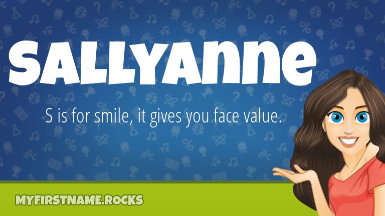 My First Name Sallyanne Rocks!