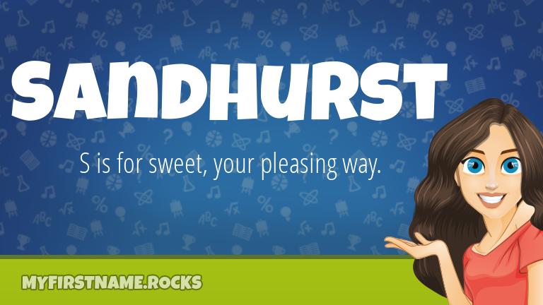 My First Name Sandhurst Rocks!