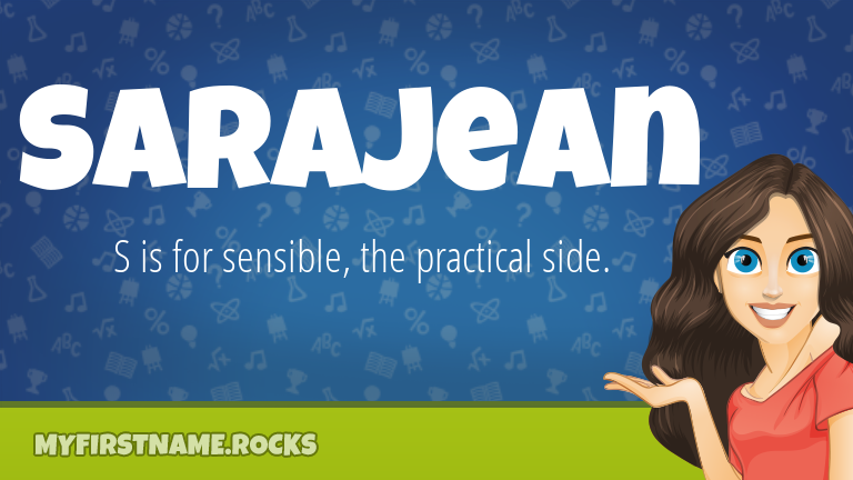 My First Name Sarajean Rocks!