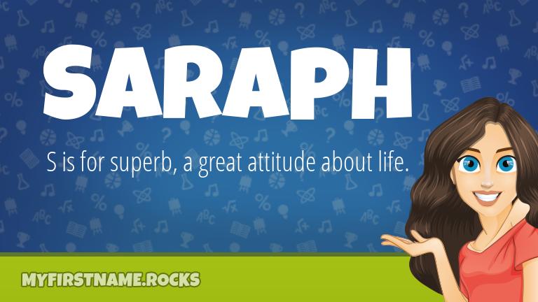 My First Name Saraph Rocks!
