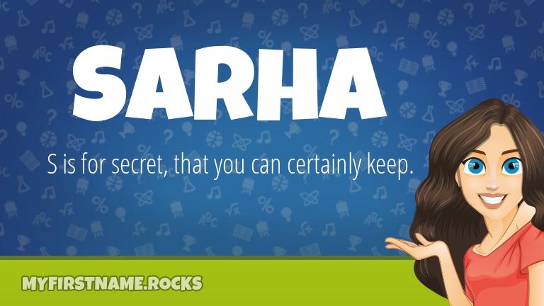 My First Name Sarha Rocks!